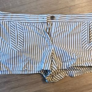 Jcrew shorts size 10 brown and white stripe